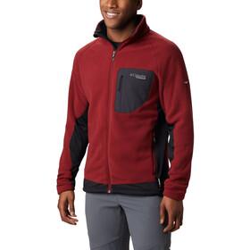 Columbia Titan Pass 2.0 II Fleece Jas Heren, red jasper-black